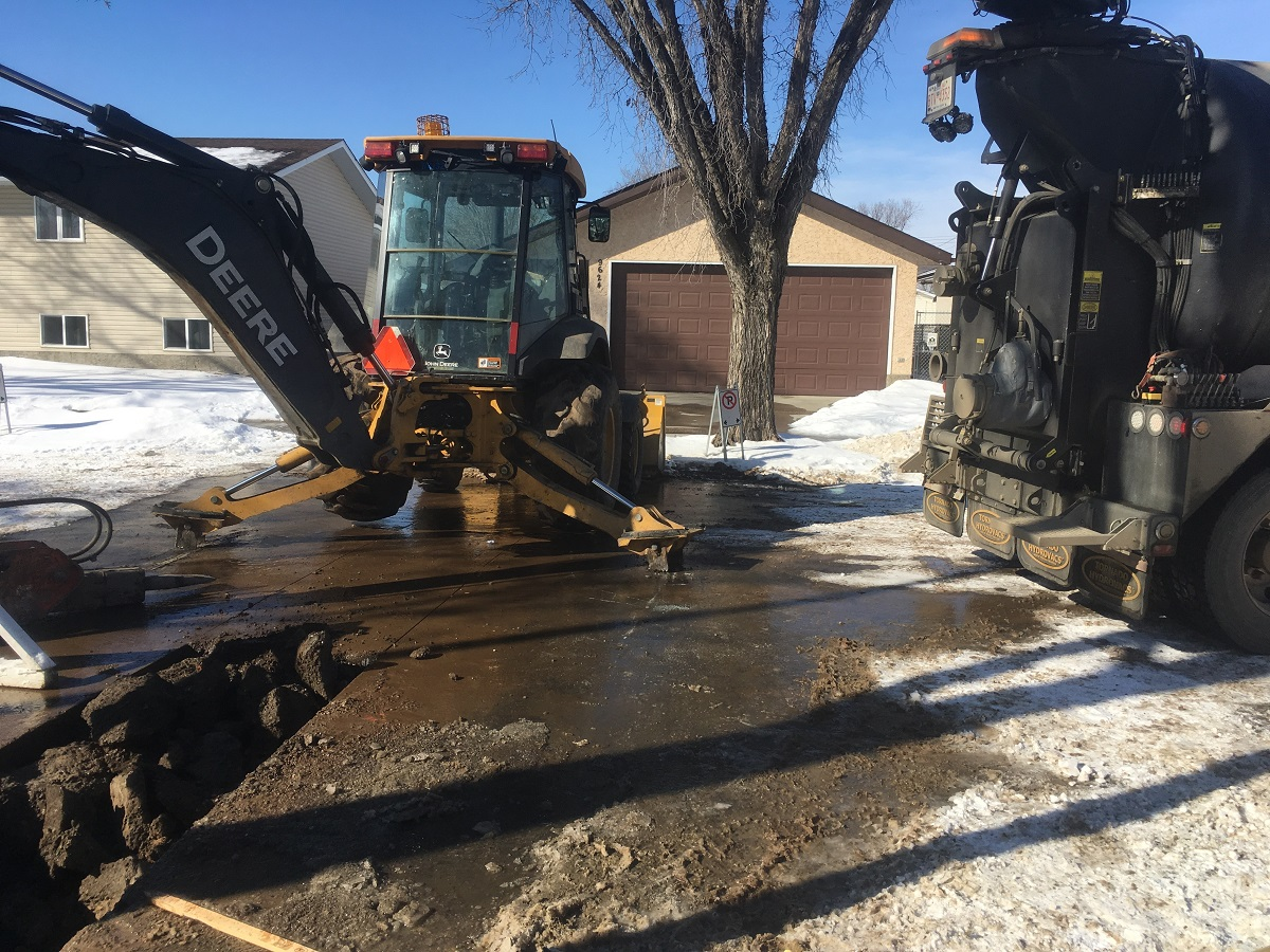 hydro excavate electrical line